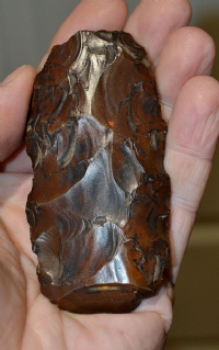 A very attractive Upper Paleolithic / Predynastic Egyptian flint hand axe,  Egypt (AX2) SOLD